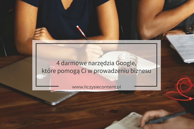 darmowe narzędzia google