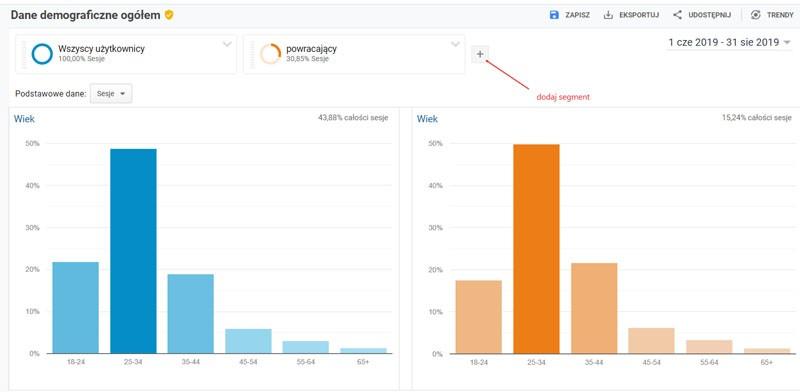 google analytics segmenty