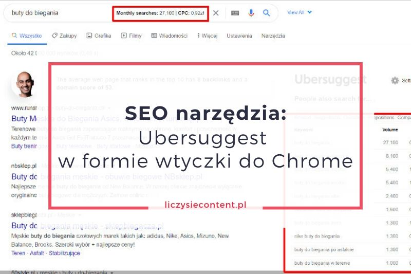 ubersuggest wtyczka do chrome