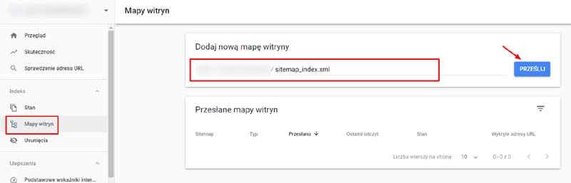 jak dodać sitemap do Google Search Console